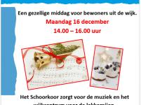 Mini kerstconcert met mini high tea in De Zaagtand