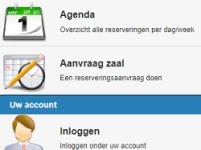 Online zaalreserveringssysteem