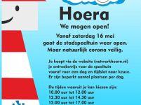 Stadsspeeltuin De Speelhoorn open vanaf 16 mei!